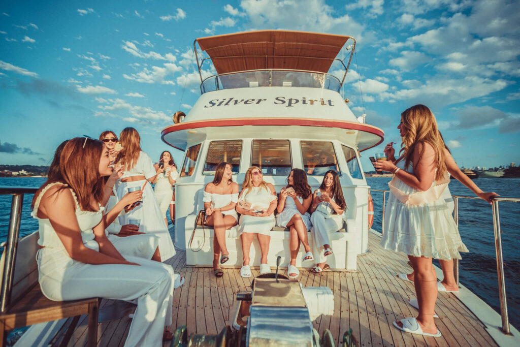 Hens party boat