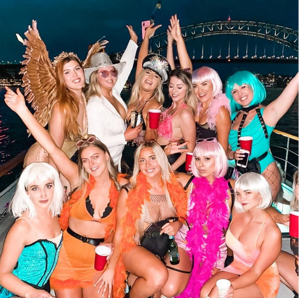 Hens Party boat hire Sydney on the Kraken